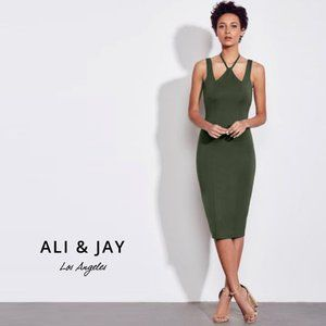 ALI & JAY Garden Halter Sleeveless Dress Small